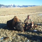 Hunter Next to Buffalo - Left Side