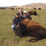 Three Hunters Around Buffalo Together
