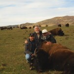Three Hunters Around Buffalo